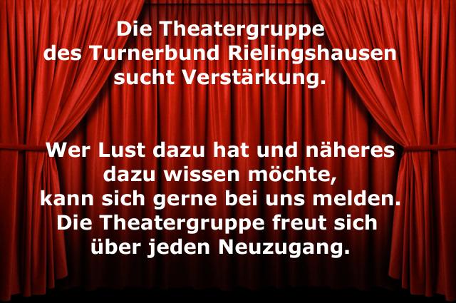 Theatergruppe sucht Verstärkung