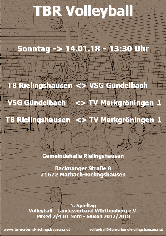 TBR_Volleyball_14.01.2018_Plakat